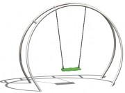 Portique balançoire inox - Dimensions (L x l x H) mm : 2500 x 900 x 2100