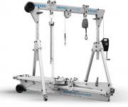 Portique de levage mobile pliable - Capacité de charge : 500 kg - À déploiement rapide