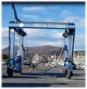 Portique élévateur à bateaux d'occasion 32T - Hauteur totale : 6270 mm