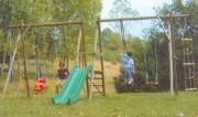 Portique jeu pour enfant - Longueur hors tout : 6.38 m