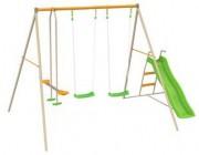 Portique métallique pour enfants - Dimensions hors tout (L x l x H) cm : 391 x 213 x 225