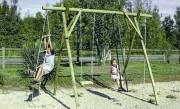 Portique plein air en bois - Longueur hors tout :  3.50 m - Hauteur de la poutre : 2.50 m