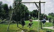 Portique pour enfant - Longueur hors tout : 3.00 m - Hauteur de la poutre : 2.50 m