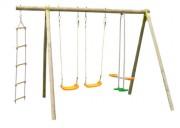 Portique pour enfants en bois - Dimensions hors tout (L x l x H) cm : 324 x 214 x 230