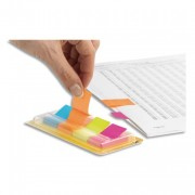 POST-IT 4 bloc index de 50 feuilles format 20x38mm coloris assortis - Post-it®