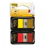 POST-IT Blister de 2 cartes de 50 index marque page 2,54x4,4mm rouge et jaune 680-RY2 58957 - Post-it®