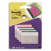 POST-IT Blister de 24 index strong large coloris assortis rouge, bleu, vert, jaune - Post-it®