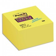 POST-IT Bloc cube 350 feuilles SUPER STICKY 7,6 x 7,6 cm jaune jonquille 2028S - Post-it®