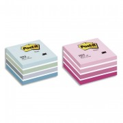 POST-IT Bloc cube aquarelle 7,6 x 7,6 cm 450 feuilles coloris bleu - Post-it®