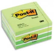POST-IT Bloc cube aquarelle 7,6 x 7,6 cm 450 feuilles coloris vert - Post-it®
