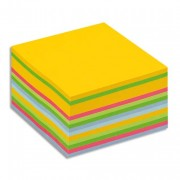 POST-IT Bloc cube déco 7,6 x 7,6 cm 450 feuilles jaune ultra/multi couleur BP 3362030-U - Post-it®