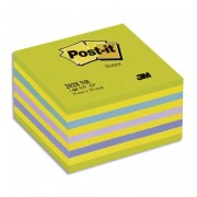 POST-IT Bloc cube NEON 7,6 x 7,6 cm 450 feuilles coloris bleu-vert - Post-it®