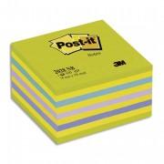POST-IT Bloc cube NEON 7,6 x 7,6 cm 450 feuilles coloris bleu-vert - Post-it®