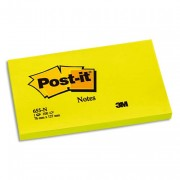 POST-IT Bloc néon repositionnable de 100 feuilles 76 x 127 mm jaune 655NY - Post-it®