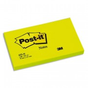 POST-IT Bloc néon repositionnable de 100 feuilles 76 x 127 mm vert 655NG - Post-it®