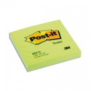 POST-IT Bloc néon repositionnable de 100 feuilles 76 x 76 mm vert 654NG - Post-it®