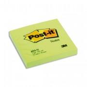 POST-IT Bloc néon repositionnable de 100 feuilles 76 x 76 mm vert 654NG - Post-it®