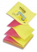POST-IT bloc repositionnable de 100 feuilles 7,6 x 7,6 cm jaune/rose - Post-it®