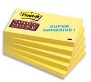 POST-IT Bloc repositionnable SUPERSTICKY 90 feuilles format 76x127mm 655S - Post-it®