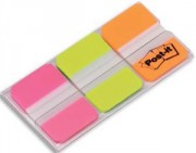 POST-IT Carte de 3 couleurs d'Index Strong 2,5 x 3,8 cm (rose, vert, orange) 686-PGO - Post-it®