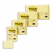 POST-IT Lot de 12 blocs repositionnables de 100 feuilles 38 x 51 mm jaune 653E - Post-it®
