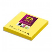 POST-IT Lot de 5 Blocs assortis SUPER STICKY 7,6 x 7,6 cm 90 feuilles couleurs néon 654S-N - Post-it®