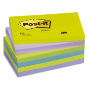 POST-IT Lot de 6 blocs repositionnables coloris menthe dimensions 76x127mm 655MT - Post-it®