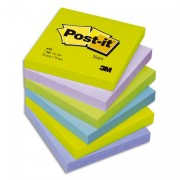 POST-IT Lot de 6 blocs repositionnables coloris menthe dimensions 76x76mm 654MT - Post-it®