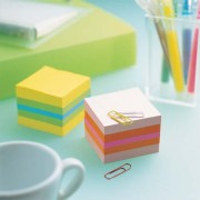 POST-IT Mini bloc cube 400 feuilles 5,2 x 5,2 cm Citron + bleu et vert 2051L - Post-it®