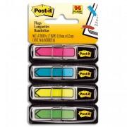 POST-IT Set de 4x24 index flèche couleur classique : rouge, vert, bleu, jaune format 12x44mm 24929 - Post-it®