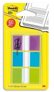 POST-IT Set de 60 index standards dans un dévidoir transparent 2,54cm Coloris : violet, bleu, vert - post-it index