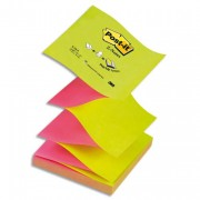 POST-IT Tour 6 blocs Znotes 100f 76X76mm 100% recyclé. Coloris jaune BP324 R330-1B - Post-it®