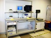 Poste de controle logistique - Structure réalisée en profilé aluminium