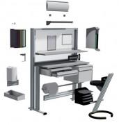 Poste de controle qualité aluminium - Modulable - Open space