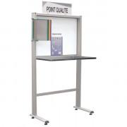 Poste de contrôle qualité inox - Largeur 1264 mm x Hauteur 1700 mm x Profondeur 500 mm
