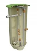 Poste de relevage double pompe eaux usée - Capacité (L) : de 1250 à 1600 - kw : de 0.25 à 1.1