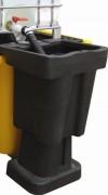 Poste de soutirage PEHD - Capacité : 100 Litre - Pour bac de rétention 1 cubitainer
