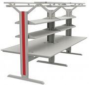 Poste de travail électronique ergonomique - Dimensions (L x l x h)mm : 3182 x 1500 x 1710-2110