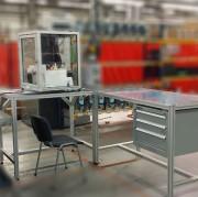 Poste de travail en profilés aluminium - Dimensions : 10 à 6000 mm