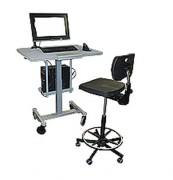 Poste de travail informatique ergonomique mobile - Permet de réduire les affections péri-articulaires