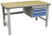 Poste de travail Workshop à bloc-tiroirs - Dimensions (L x l x h)mm : 2000 x 750 x 840