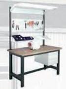 Poste de travail Workshop à panneaux perforés - Dimensions (L x l x h) mm : 2000 x 820 x 1475