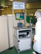 Poste lecteur code datamatrix - Poste de contrôle - Profilé aluminium