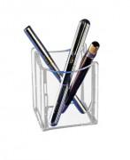 Pot à crayons en plexiglas - Dimensions : 7 x 7 cm - Hauteur : 9 cm