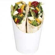 Pot cartonné a sandwich roulé - Contenance : 156 ml