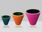 Pot de fleur en polyéthylène - En polyéthylène haute densité rotomoulé teinté