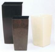 Pot kubis argent - Dimensions: Long: 9 x Larg: 9 x Haut: 18 cm