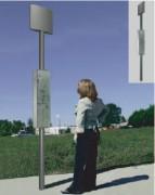 Poteau Arrêt de Bus - Panneau avec le cadre informations