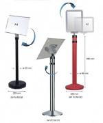 Poteau d'information premium avec base lestée - Acier - Hauteur 980 mm