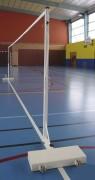 Poteau de badminton - Hauteur réglable : 1.40 à 1.55 m